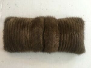 Genuine Mink Fur Decorative Pillow