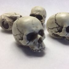 4 Skull Valve Stem Caps Hot Rat Street Rod Skeleton Punk Goth Made in USA  15VC4