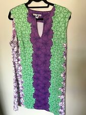 Rulon Reed Green/Purple Dress - Size XL