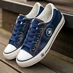Summer Women Sneakers Denim Canvas Shoes Female Stars Lace Up Casual Ladies