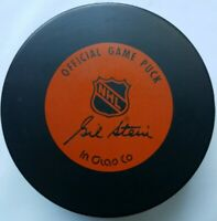 PHILADELPHIA FLYERS VINTAGE OFFICIAL GAME PUCK NHL INGLASCO GIL STEIN CANADA