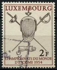 Luxembourg 1954 SG#578 World Fencing Championships Used #D75319