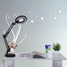 LED Large Lens Lighted Lamp Top Desk 5x Magnifier Magnifying Glass W/Clamp