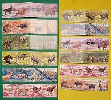 1971 BURUNDI STRIPS OF ANIMALS SCOTT # 355-60 & C149-51 MNH (2 SETS OF 6)