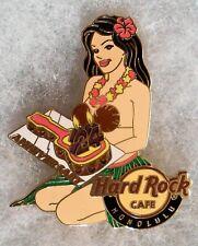 HARD ROCK CAFE HONOLULU 24TH ANNIVERSARY SEXY HULA GIRL WITH CAKE PIN # 64112