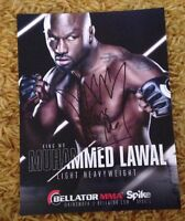 King Mo 8 x 10.5 Autographed PROMO Photo Signed BELLATOR MMA UFC Muhammed Lawal