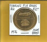 Sebring Fla. Races Token BU 34 MM Brass