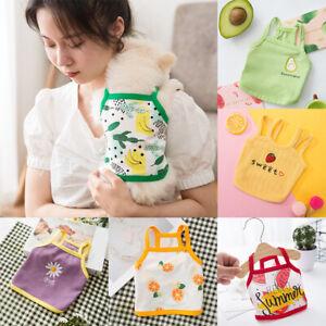Summer Small Pet Dog Vest Camisole Puppy Clothes Cartoon Cute Cat T-shirts