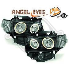 2271380 , Paire de Feux Phares Angel eyes noir pour VW T4 Caravelle , Multivan