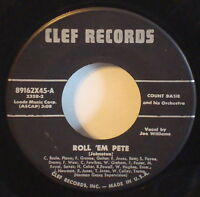 COUNT BASIE Roll 'em Pete--April in Paris VERY RARE 1956 A1 CLEF 45 Joe Williams