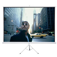 """New 120"""" 4:3 Tripod Compact Portable Projector Projection Screen Matte White"""
