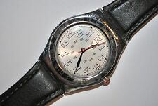 1995 Swatch IRONY Medium YLS-103 RED AMAZON Ladies Gents Swiss Vintage Steel