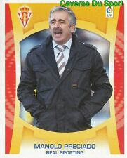 MANOLO PRECIADO ENTRENADOR ESPANA REAL SPORTING STICKER ESTE LIGA 2010 PANINI