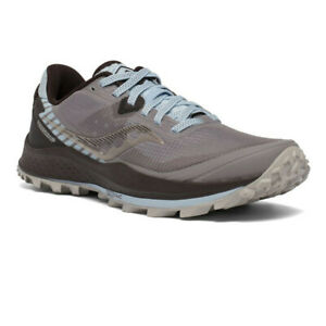 Saucony Womens Peregrine 11 Trail Running Shoes Trainers Sneakers Grey Sports