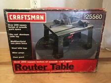 NEW craftsman professional mid-sized 200 sq inches router table 9 25560