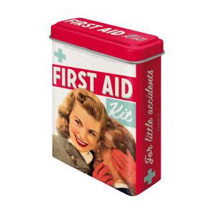 86104 Caja metálica tiritas first aid kit  50's nostalgic art coolvintage