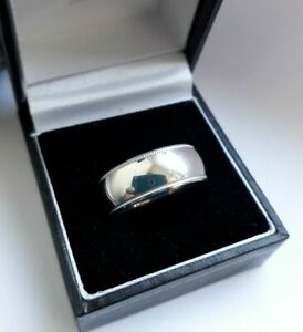 Heavy/Solid English Sterling Silver Quality Wedding/Band Ring. Full H/M. (9.7g!)