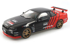 Nissan R34 GTR schwarz ADVAN  Solido 1:18 S1804302
