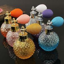 110ML Vintage Crystal Spray Perfume Bottle White Short Atomizer Refillable Glass