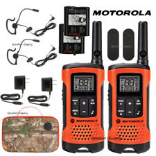 Motorola Talkabout T265 Walkie Talkie Set 25 Mile Two Way Radio + Earbuds + Case