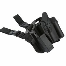 1X Drop Puttee Thigh Leg Rig Pistol Holster Magazine Torch Pouch for Glock 17 18