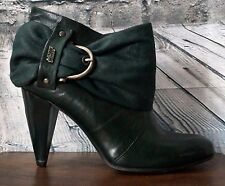 New Miss Sixty Suede Belted Forest Green Bootie Size 6 US, Euro 36