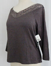 NEW Extra Touch Womans 1X Jersey Stretch Knit  Top V-Neck /1/2-Sleeve NWT