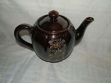 Vintage,1940's,Japan,Lustreware,Glazed, Hand Painted,Gold Leaf, 4 Cup,Teapot
