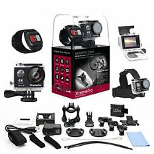 XtremePro 4K Ultra HD Sports Camera Bundle + Wireless Wrist Remote + 20 Items