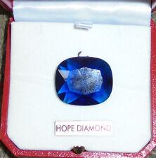 Royal Hope King French Blue Crystal Amulet Jewelry Gem Museum Gemstone Jewel CZ
