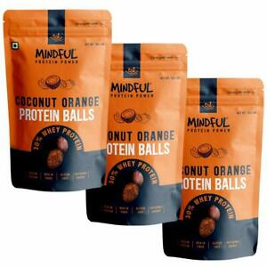 EAT - Eat Any time Mindful Coconut Orange Protein Energy Balls, 30% Whey Protein