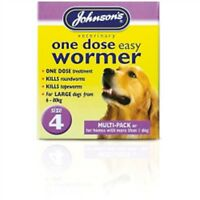 Size 4 One Dose Dogs Easy Wormer - Johnsons Tablets Dog