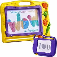Magnetic Drawing Board Kids w/ Mini Magna Doodle Toddlers Magnetic Doodle Board