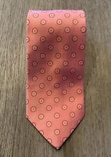 BROOKS BROTHERS Pink & White Polka Dot Print Neck Tie
