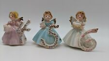 New ListingJosef Originals Lot of (3) Happy Birthday Girl Angel Figurines 4 - 6 Years Old