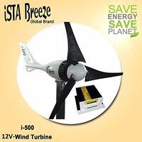 SET 12V i-500 PLUS, WINDGENERATOR + LADEREGLER, BLACK, WINDTURBINE ista Breeze®