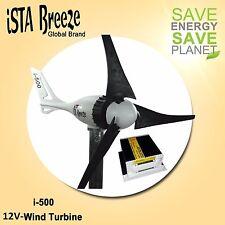Set 12v 500w Aérogénérateur + contrôle de charge, Black Edition wind turbine ISmartTagAction-Breeze ®