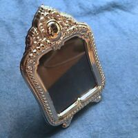 """Vintage Miniature Sterling Silver 925 Picture Frame - """"Cleopatra"""": Rect. Ornate"""