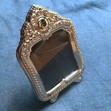 "Vintage Miniature Sterling Silver 925 Picture Frame - ""Cleopatra"": Rect. Ornate"