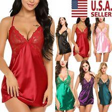 Women Lingerie Underwear Nightgown Lace Robe Dress Babydoll Nightdress Sleepwear