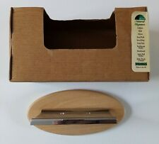 MOORES - Solid Natural Beech and Chrome Soap Dish MADE IN U.K  *BNIB*