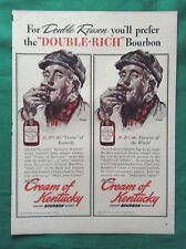 1940s Lot Norman Rockwell Cream of Kentucky Straight Bourbon Whiskey Advertising