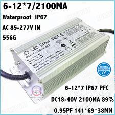 2PCS AC85-277V 100W PFC LED Driver 6-12x7 2100mA DC18-40V Constant Current 90%