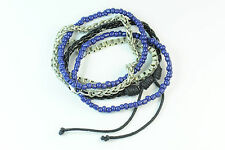 MENS 4 GEOMETRICALLY INSPIRED CASUAL SURFER / HIPSTER LOOK BRACELET UNIQUE(CL11)