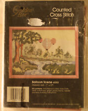 """Crafts: Counted cross stitch, """"Ballon Sceen"""", 60353 Finished Size 5 x 7 inch"""