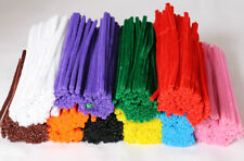 500 Chenille Craft Stems Pipe Cleaners 10 Colours  15cm x 6mm FREE SHIPPING 4056