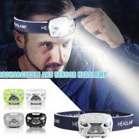 12000lm USB ricaricabile Sensore di movimento torcia luce LED lampada frontale