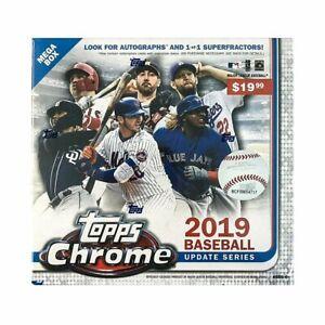 2019 Topps Chrome Update Series Baseball Mega Box Factory Sealed Unopened (Qty)