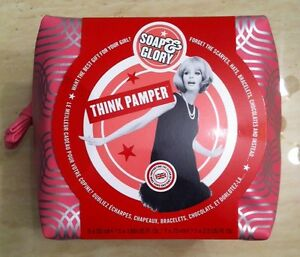 Soap and Glory THINK PAMPER Wash Bag Gift Set BNIB