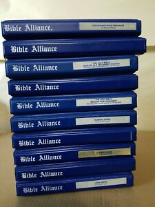 Lot of 10 The Bible Alliance Holy Bible New and Old Testament 112 Cassettes